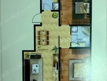 水悦城2室2厅1卫户型