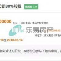 黄岛金地禹洲江山艺境项目30%股权转让 曾用案名盛港逸湾