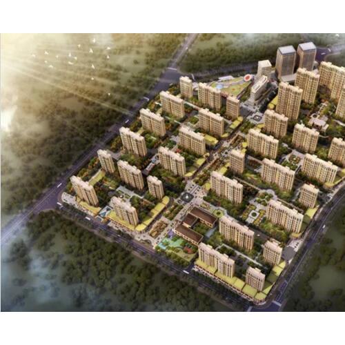 铁山大平岭小平岭村庄搬迁改造规划组图 打造高铁活力城