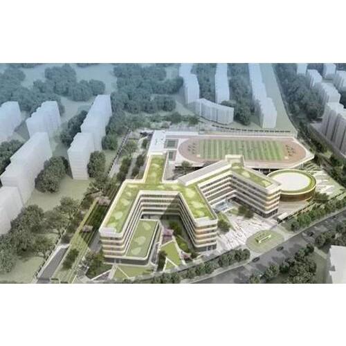 李沧区君峰路中学开工建设 计划明年9月竣工