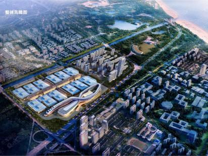中铁青岛世界博览城整体鸟瞰图