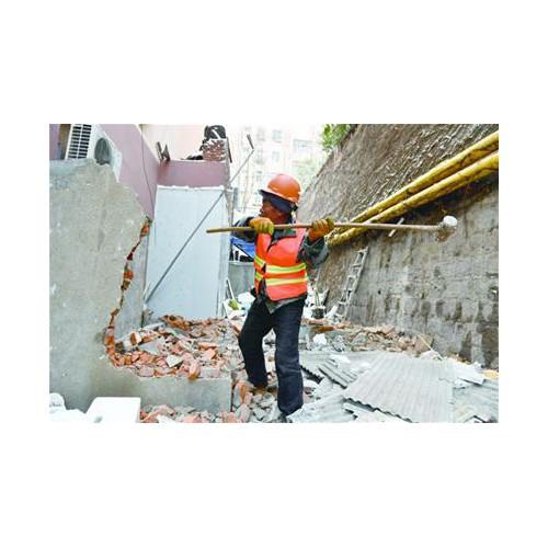 南九水路40号违法房全部拆除 片区环境整体提升