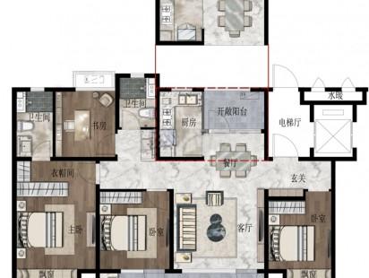 和达海映山洋房126户型