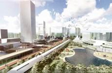 """青岛轨道交通产业示范区设计出炉 绘出""""未来高铁城""""蓝图"""
