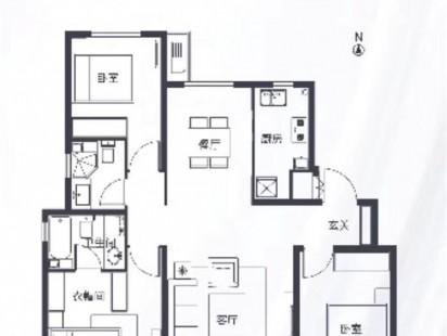 中国铁建海语城洋房119户型