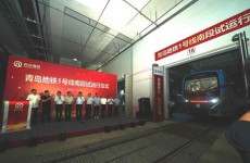 青岛地铁1号线南段今起试运行 连接五个城区